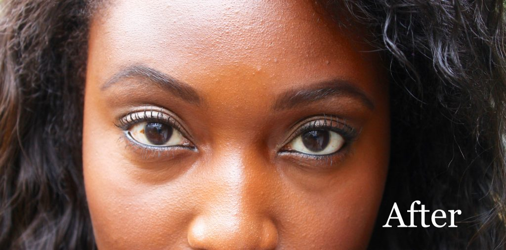 My eyes after waterlining