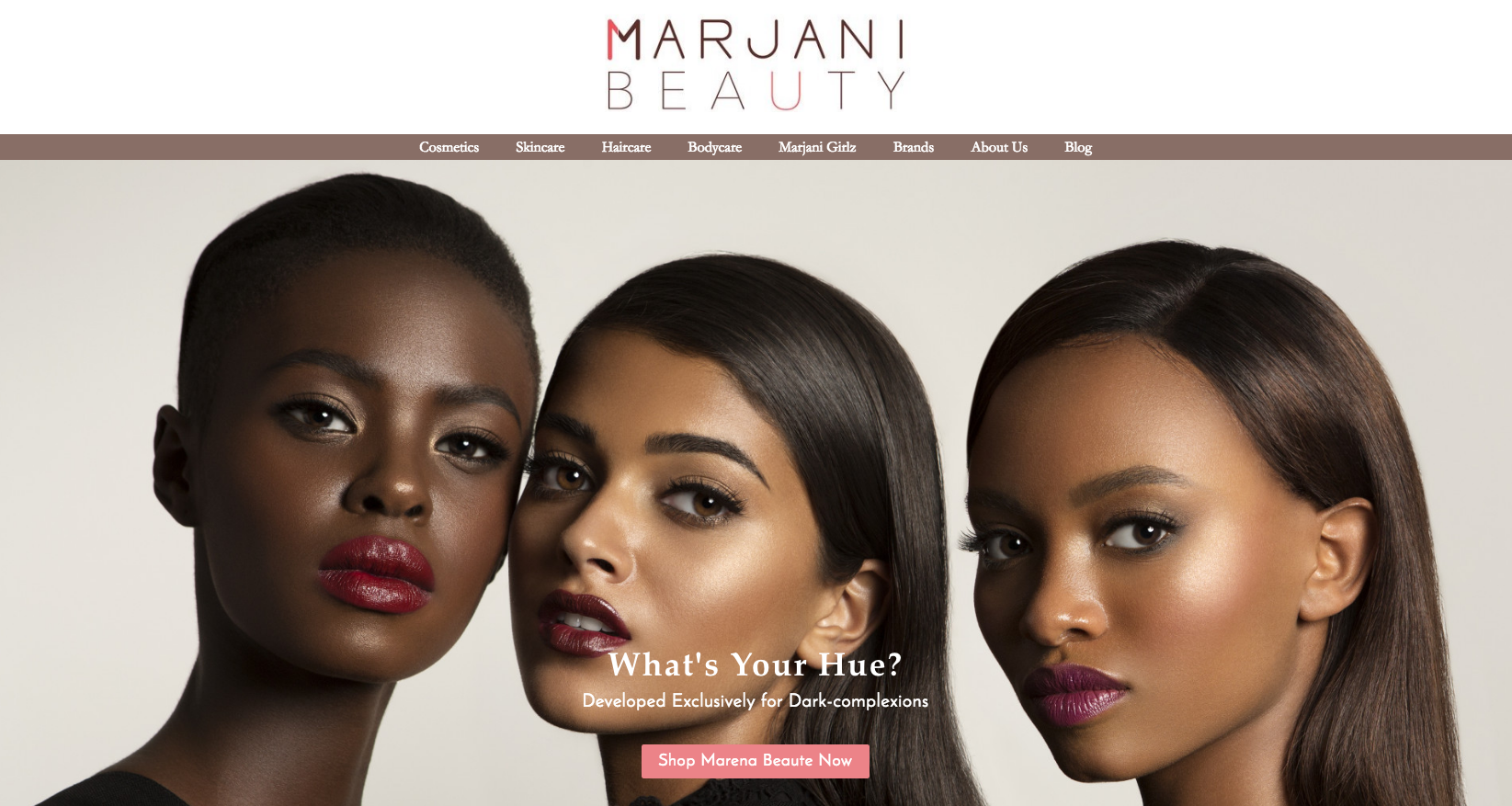Marjani is a New Brown Online Beauty Store by Another Black Woman